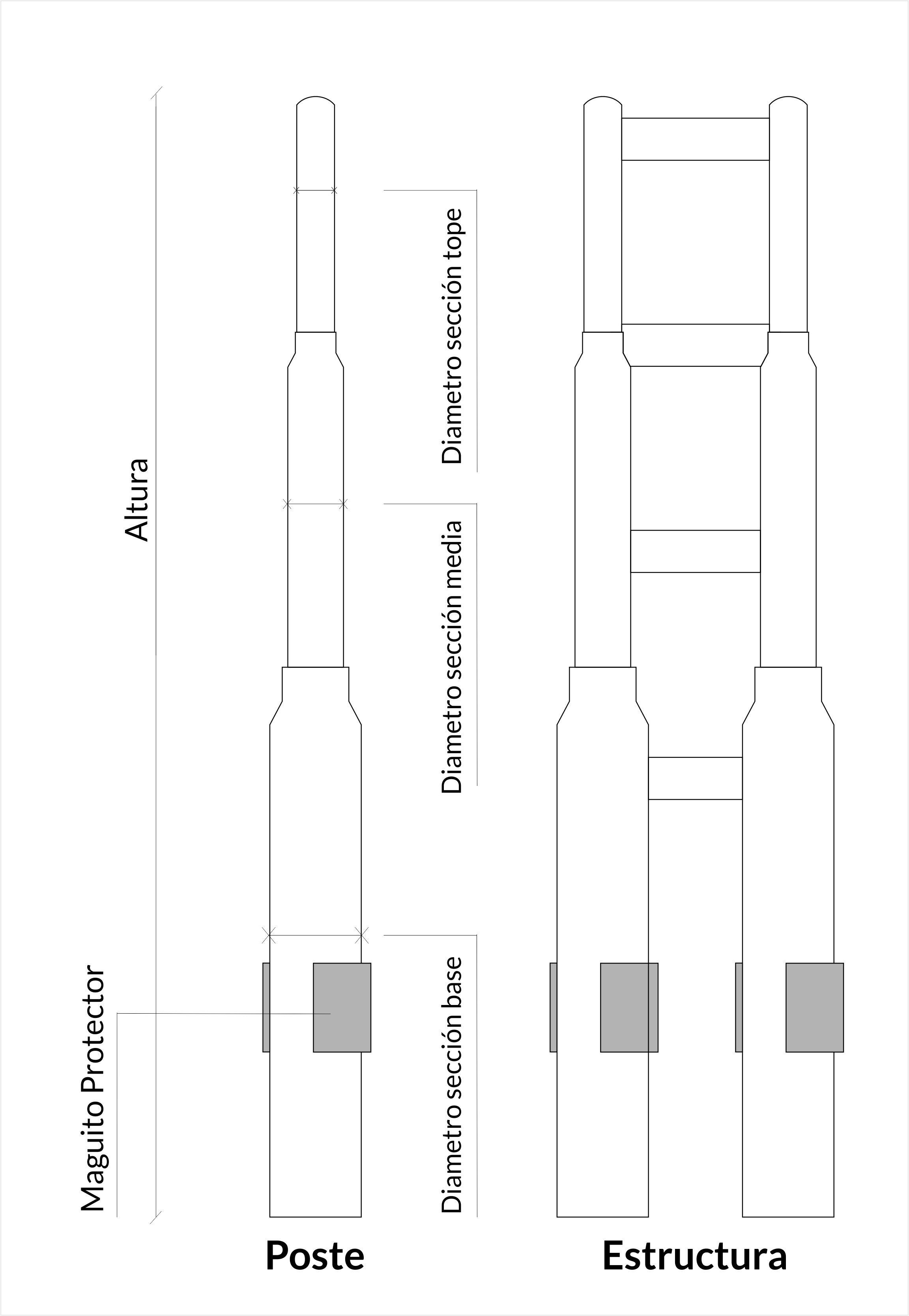 Postes Tubulares y Estructuras | Postes del Centro, C.A.